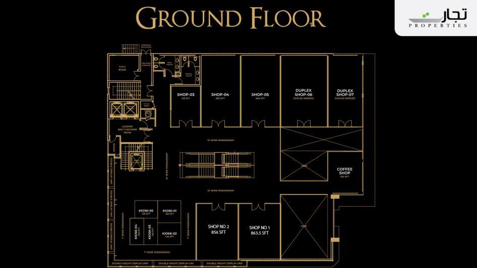 V8 Mall Islamabad Ground Floor Plan