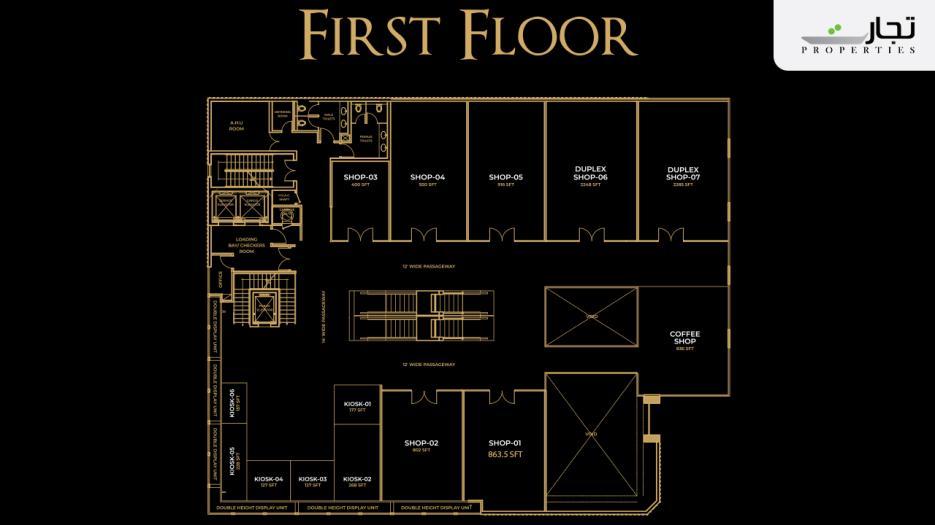 V8 Mall Islamabad 1st Floor Plan