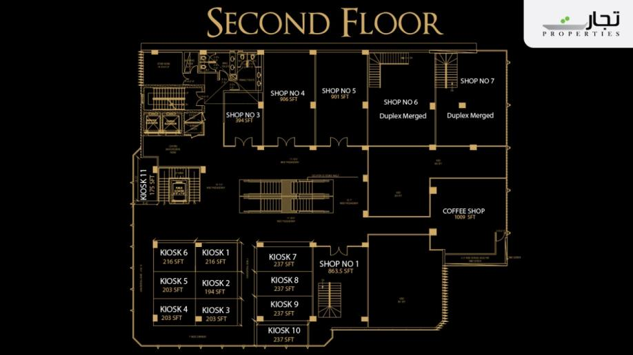 V8 Mall Islamabad 2nd Floor Plan