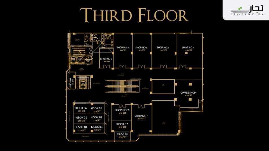 V8 Mall Islamabad 3rd Floor Plan