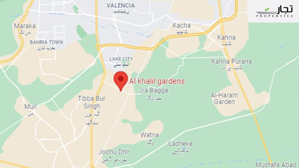 Al Khalil Garden Lahore Location