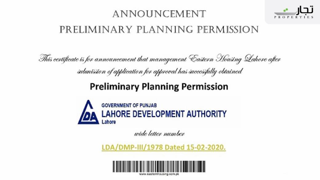 Eastern Housing Scheme Lahore NOC