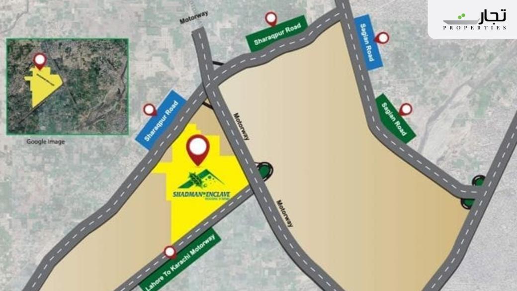 Shadman Enclave Lahore Location