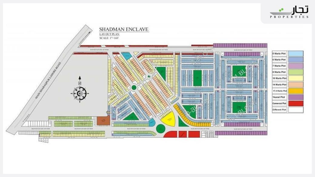 Shadman Enclave Lahore Mater Plan
