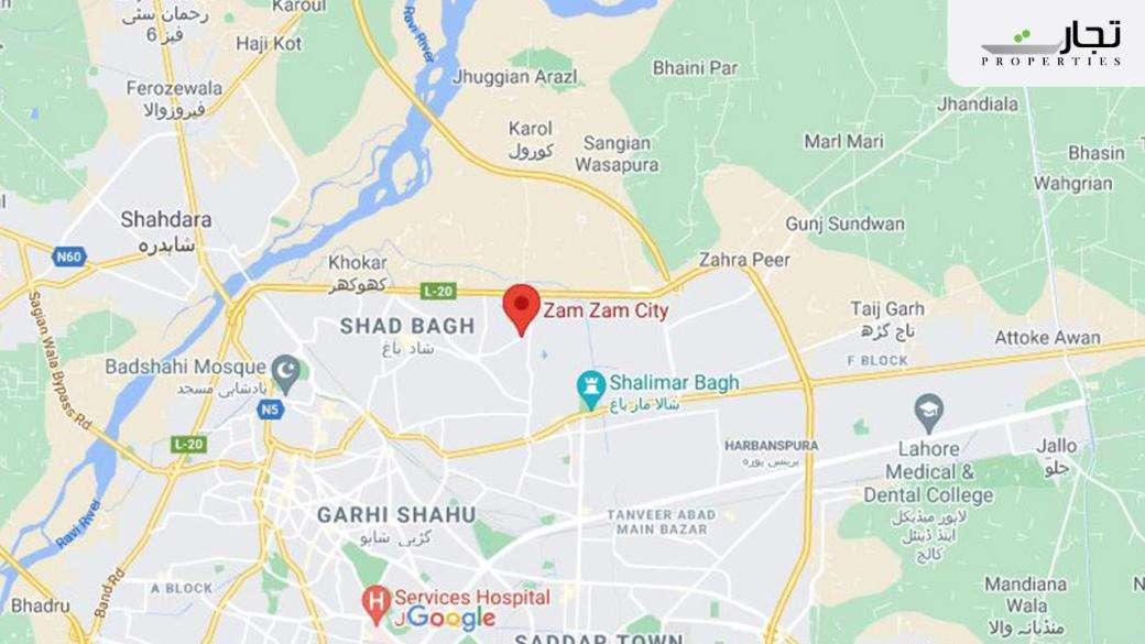 Zam Zam City Lahore Location