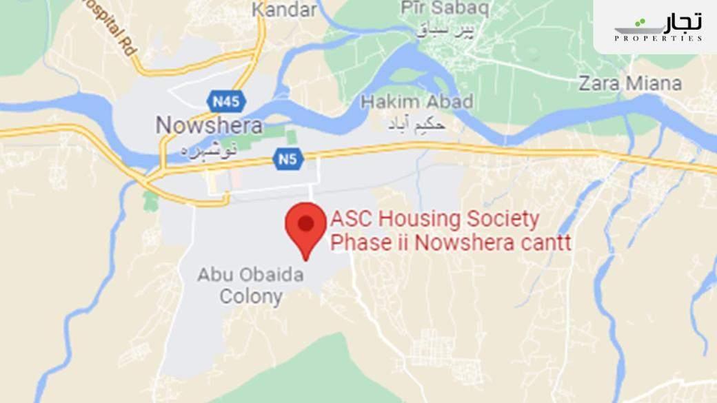 ASC Cooperative Housing Society Phase 2 Nowshera Location