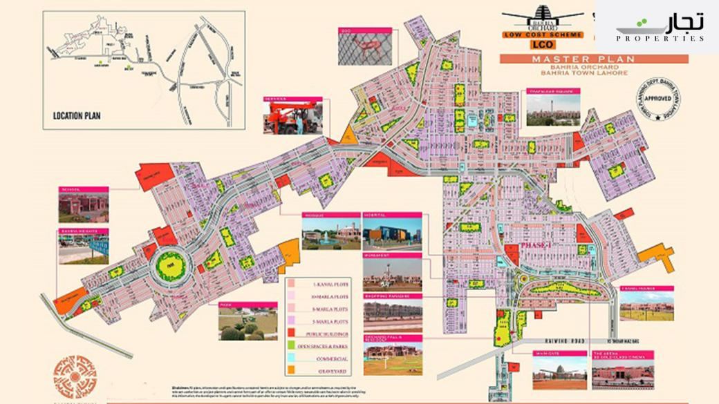 Bahria Orchard Phase 1 Lahore Master Plan